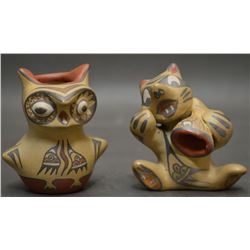 SANTA CLARA INDIAN POTTERY FIGURES  (MARGARET  AND LUTHER GUTIERREZ)