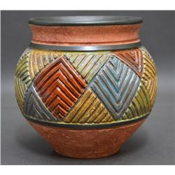 WESTERN CERAMIC JAR ( ROBERT MILES)