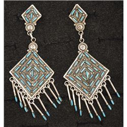 ZUNI INDIAN EARRINGS (KEVIN LEEKITY)