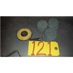 """Mandrel 1/4"""" with Grinding Wheel 2"""""""