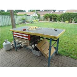 """Work Table 36"""" x 72"""" x 36""""height with 3 Drawers"""