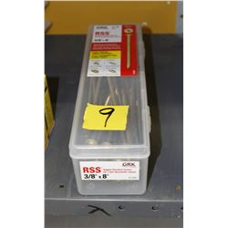 """3/8 x 8"""" rugged structural screws 2 boxes"""