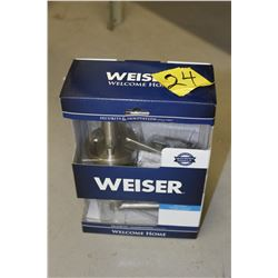 weiser bed and bath lever door knob 4 available