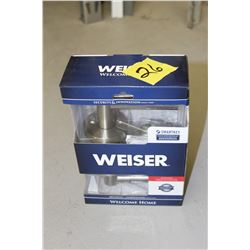 weiser smart key entry lever door knob 4 available