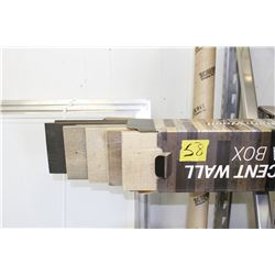 modern rustic reclaimed inspired siding trim browns 4 boxes