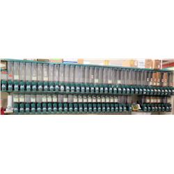 Qty 36 Side x Side Teal & Clear Plastic Snack Dispensers