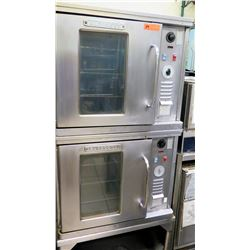 Qty 2 Blodgett Stacked Commercial Convection Ovens