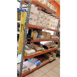 "Qty 2 Orange Adjustable Shelving Units 100"" x 96"" x 22"" Wide"