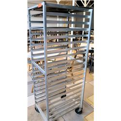 "Rolling Bakery Sheet Pan Rack 20.5"" x 26""D x 66""H"