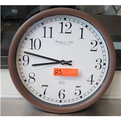 "Sterling & Noble Company Wall Clock Mfg No. 9 (15""Dia)"
