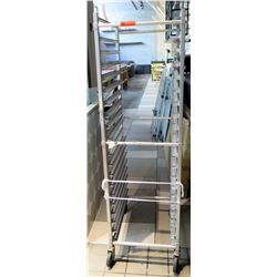"Rolling Bakery Sheet Pan Rack 20.5"" x 26""D x 69""H"