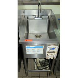 "Stainless Steel Handwash Sink w/ Side Guards 20""x32""x39""5H"