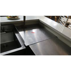 "Stainless Steel Prep Table, Corner Unit 32""x32""x36""H"
