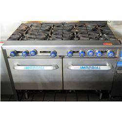 "Imperial 8-Burner Natural Gas Range w/ Dual Ovens, Model IR-8 (48""W, 41""H)"