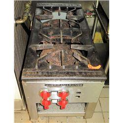American Range 2-Burner Commercial Gas Cooking Stove, Model ARSP-18-2
