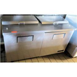 True 2-Door Sandwich Prep Station w/ Refrigerated Base, Model TSSU-60-16