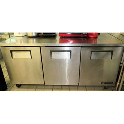 "True 3-Door Undercounter Refrigerator, Model TUC-72 (72.5"" x 30""D x 36""H)"