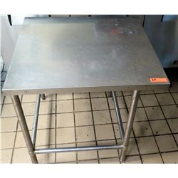 """Stainless Steel Square Prep Table 29""""x32""""x31.5""""H"""