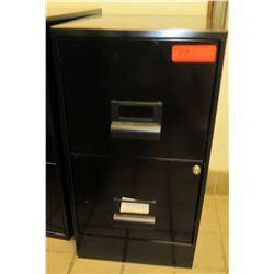 """Black Metal 2-Drawer File Cabinet 14.5""""x18""""x27.5""""H"""