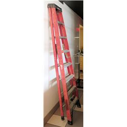 Red Werner 8-Foot Folding Ladder