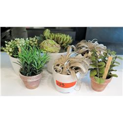 Qty 6 Potted Faux Plants