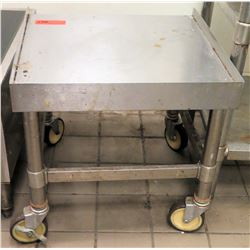 """Stainless Steel Rolling Equipment Stand 20""""x20x20"""""""
