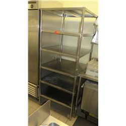 """5-Tier Stainless Steel Shelving Unit 31"""" x 30.5 x 75"""""""