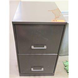 """2-Drawer Metal File Cabinet 14""""x 18"""" x 24.5""""H"""