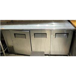 True 3-Section Back Bar Cooler Model TBB-24-72FR-S
