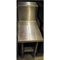 """Narrow Stainless Steel Prep Table w/ Backsplash & Undershelf 14""""x30""""x36""""H"""