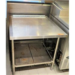 """Stainless Steel Square Prep Table w/ Undershelf 29""""x32""""x32""""H"""