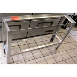 """Stainless Steel 2-Tier Holding Rack 34"""" x 8.5"""" x 24""""H"""