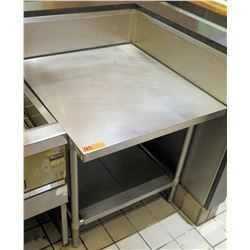 """Stainless Steel Square Prep Table w/ Undershelf 29""""x32""""x31""""H"""