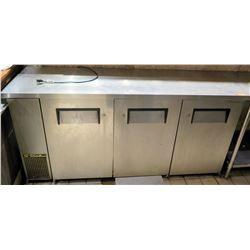 True 3-Section Undercounter Refrigerator, Model TBB-24-72FR-S