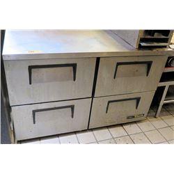 True 4-Section Undercounter Refrigerator Model TUC-48D-4-LP-HC