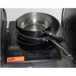 Aroma Professional Countertop Induction Burner w/ 2 Frying Pans, Model AID-513