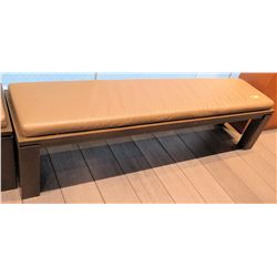 """Wooden Bench w/ Upholstered Seat 71""""x17.5""""x15.5""""H"""