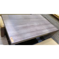 Modern Grained Rectangular Table w/ Metal Base 30x49
