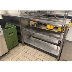 """Stainless Steel Shelving Unit 93"""" x 20""""D x 44""""H"""