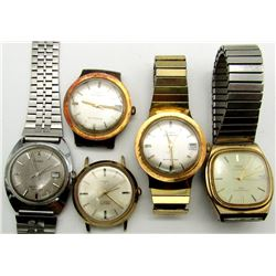 5 VINTAGE TIMEX AUTOMATIC & SELFWINDING