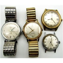 4 VINTAGE TIMEX MECHANICAL WRISTWATCHES