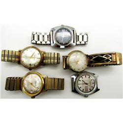 5 VINTAGE MECH. WATCHES LANCO SAGA TIMEX