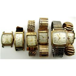 VINTAGE WATCHES GRUEN BULOVA ELGIN