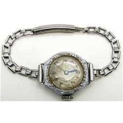 Antique Filigree Ladies Wrist Watch Langendorf Swi