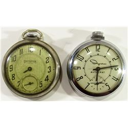 2-Ingram Open Face Pocketwatches: Viceroy and Auto