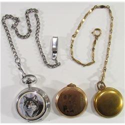 Wolf Theme, Colibri, Majeste 17 Jewel Pocketwatch