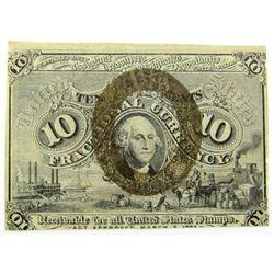 1863 TEN CENT FRACTIONAL NOTE