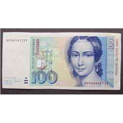 1996 $100 HUNDERT DEUTSCHE MARK