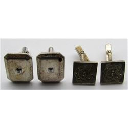 2-PAIRS OF STERLING SILVER CUFF LINKS