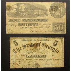 2-OBSOLETE NOTES; 1863 FIVE CENT